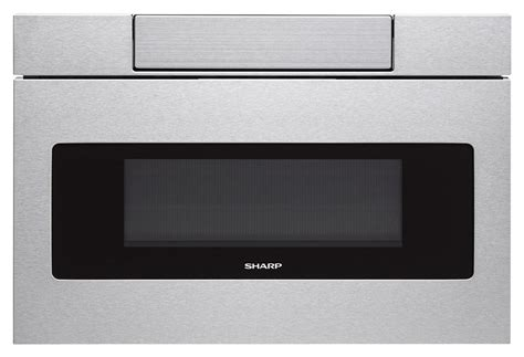 Built In Drawer Microwave by Sharp 1 2 Cu Ft Built In Microwave Drawer Silver