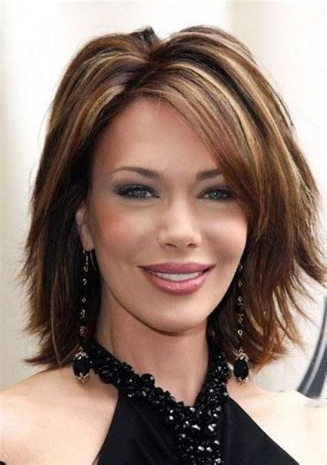med shaggy hairstyles for women over 40 60 most prominent hairstyles for women over 40