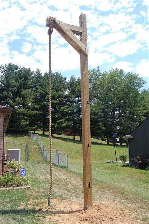 Backyard Climbing Rope by Rope Climbing Station Diy Outdoor Inspiration