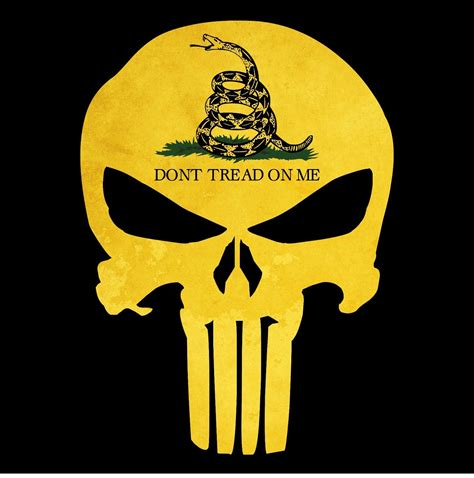 Dont Tread On Me punisher skull gadsden flag quot don t tread on me quot decal