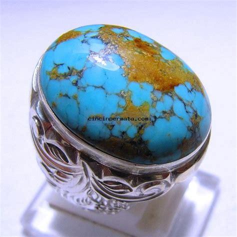 Cincin Batu Akik Pirus manfaat batu akik pirus biru urat emas dan cara merawatnya