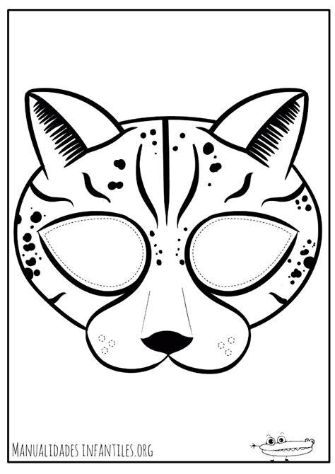 Dibujos de máscaras para colorear -Manualidades Infantiles