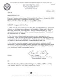 department of the army memorandum integration of walter