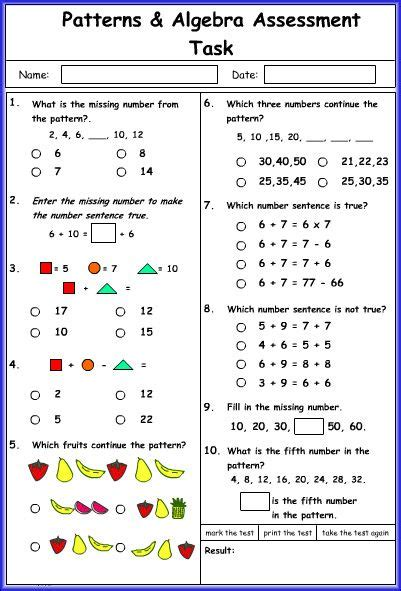math pattern rule worksheets 15 best patterns and algebra images on pinterest
