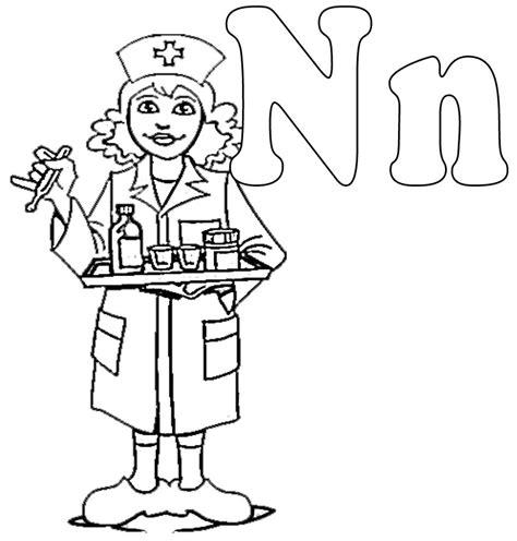 free coloring pages nurses nurse coloring page az coloring pages