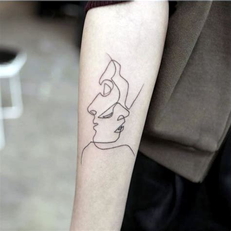 no line tattoos 40 no ordinary line designs