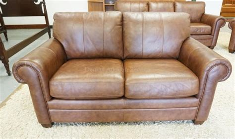 loveseat 50 inches ethan allen brown leather loveseat measuring 66 inches long