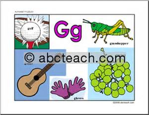 colors that start with g letter puzzle letter g guide color abcteach