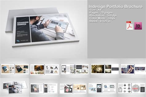 Indesign Portfolio Brochure V217 Brochure Templates On Creative Market Graphic Design Portfolio Template Indesign