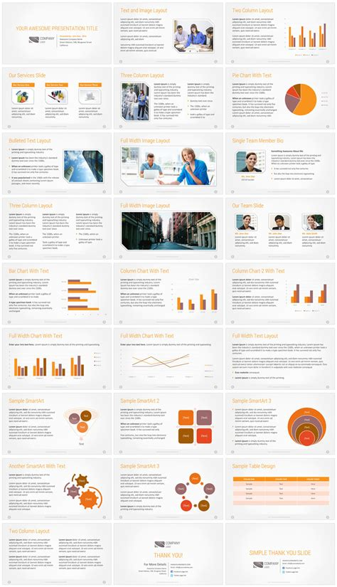 Premium Company Presentation Template Corporate Presentation Template Powerpoint Templates For Website Presentation