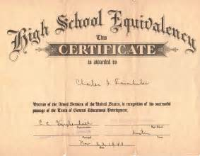 Ged Certificate Template by History