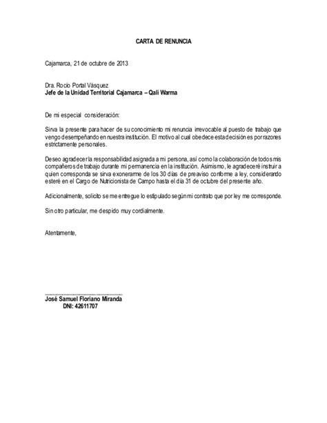 carta de renuncia trabajo ingles cartas de renuncia de trabajo newhairstylesformen2014
