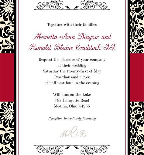 black and white wedding invitations templates black and white wedding invitation templates elite