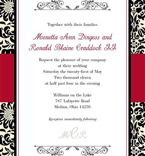black and white wedding invitation templates elite