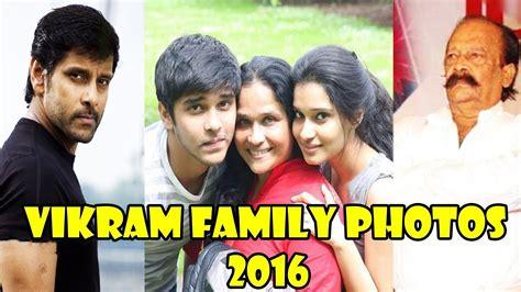 actor vikram father vinod raj vikram family photos tamil actor chiyaan vikram family