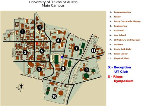 university of texas cus map ut maps