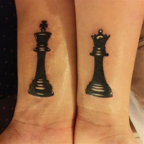 king and queen chess piece tattoos chess matching and king my