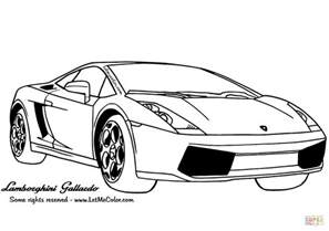 Lamborghini Pictures To Color Lamborghini Gallardo Coloring Page Free Printable