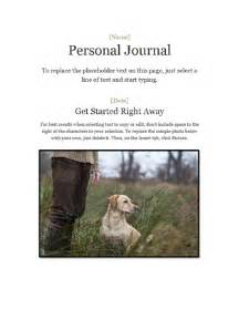 personal daily journal template personal journal office templates