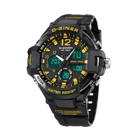 D Ziner Dz8174 List Biru harga d ziner dz0788 dual time jam tangan pria stainless