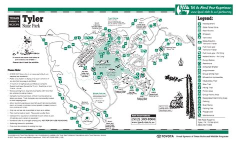 texas state parking map texas state park facility and trail map texas mappery