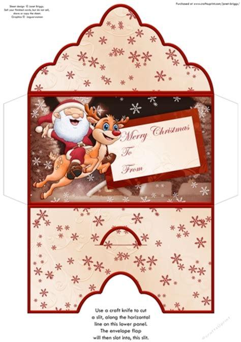christmas money wallet gift voucher envelope santas christmas flight cup craftsuprint