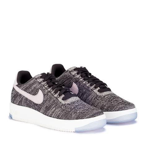 Nike Air 1 Flyknit Low White nike air 1 flyknit low white and black