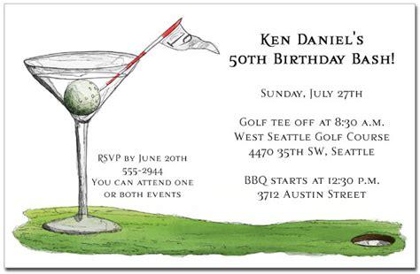 anniversary card golf template 19th martini invitations golf invitations