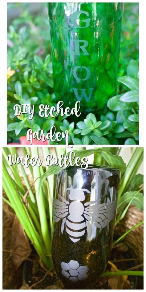 diy plant watering bottle diy etched plant water bottle gardens bottle and gifts