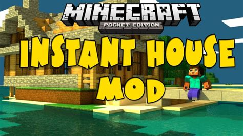 minecraft instant house mod minecraft pe mods instant house mod download fuziondroid