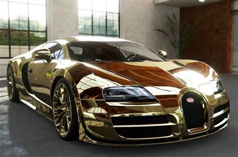 gold bugatti 10 of the weirdest materials used to cars the