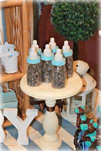 blue and brown teddy bears baby shower party ideas photo