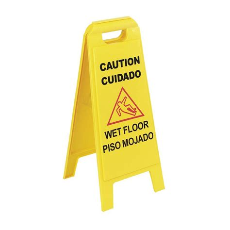 24 in banana cone multi lingual caution floor sign