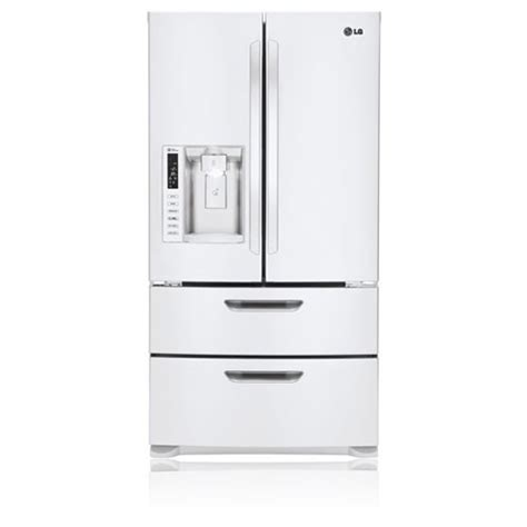white 4 door door refrigerator lg lmx25986sw 25 cu ft 4 door door refrigerator