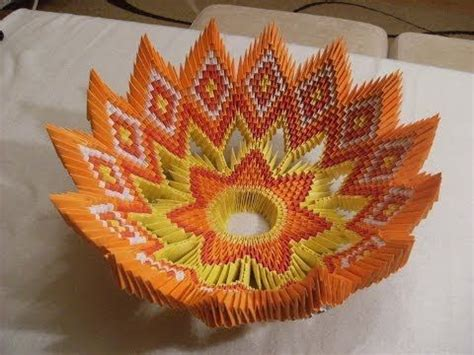 Origami Fruit - 3d origami bowl for fruits misa na owoce how to make