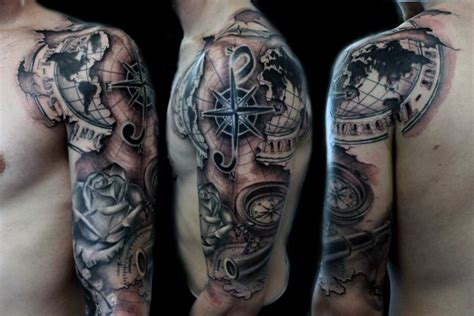 quarter sleeve tattoo for men top 100 best sleeve tattoos for cool designs and ideas