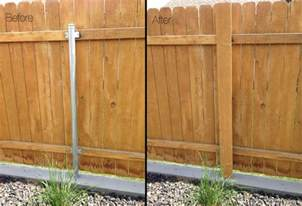 Got Ugly Metal Fence Posts? DIY Garden Project Cure!   The