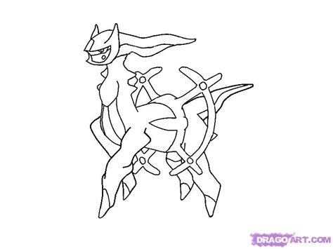 how to draw arceus step by step pokemon characters