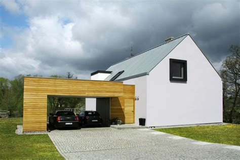 contemporary garage house in poznan by major architekci 1 homedsgn