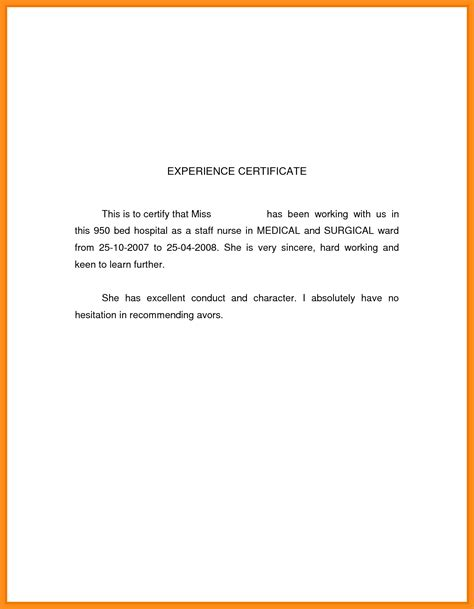 Resume Sample Nurses Experience by 7 Work Experience Letter Musician Resume