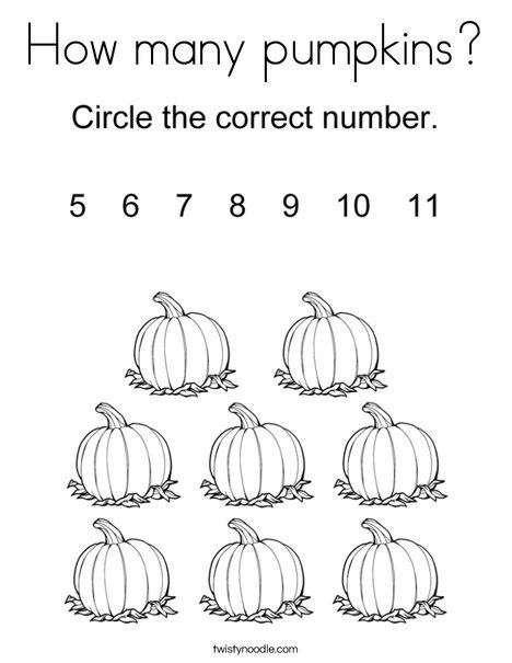 multiple pumpkin coloring pages how many pumpkins coloring page twisty noodle