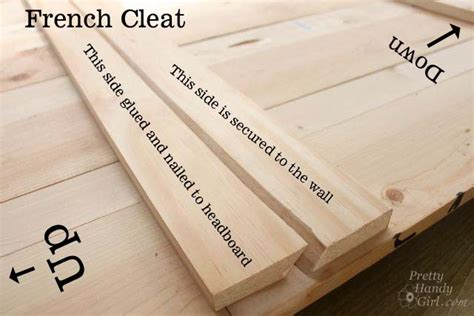 french cleat for headboard how to create a rustic wood king headboard pretty handy girl