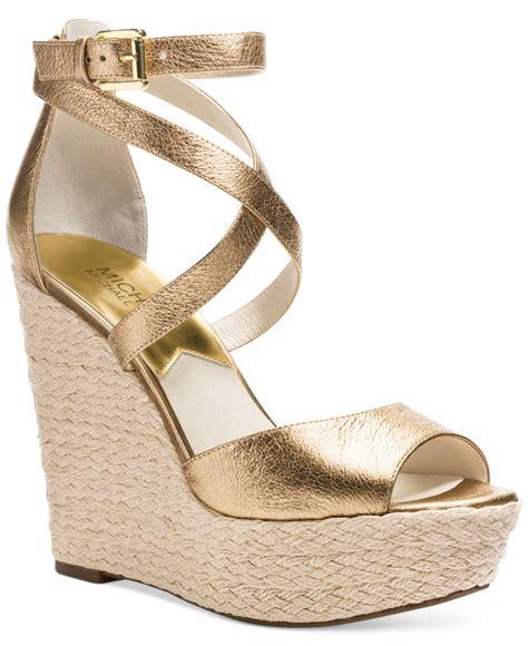 Sandal Platform Wedges Slop Gold michael kors gold wedge sandals www pixshark images galleries with a bite