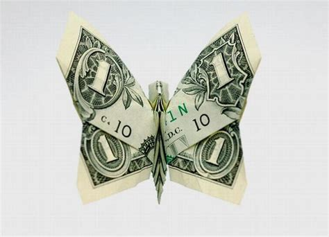 Butterfly Dollar Origami - stunning origami made using only money i like to waste