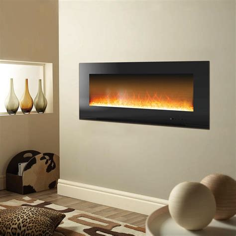 electric in wall fireplace cambridge metropolitan 56 in wall mount electric fireplace in black cam56wmef 1blk the home depot
