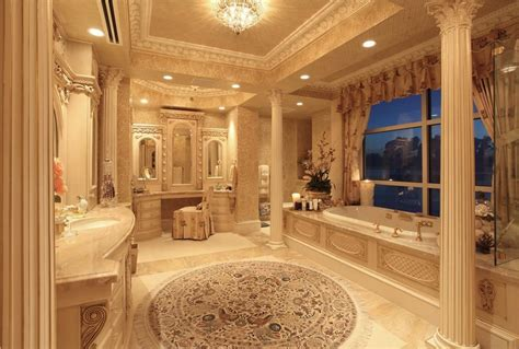 traditional master bathroom with flush light limestone