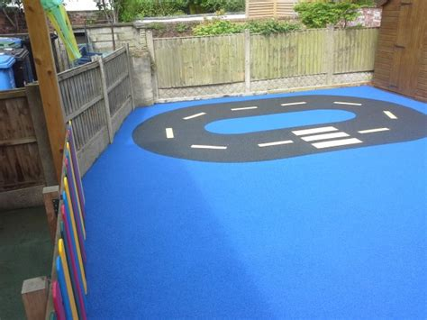 outdoor surface for playgrounds
