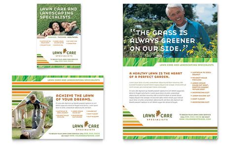 lawn care mowing flyer ad template design