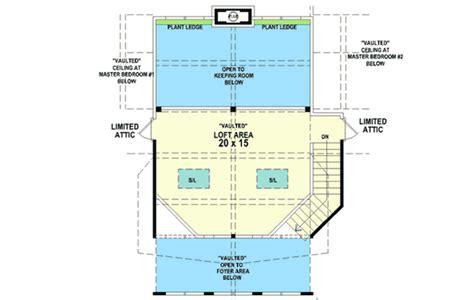 dual master suites plus loft 15801ge architectural dual master suites 58566sv 1st floor master suite cad