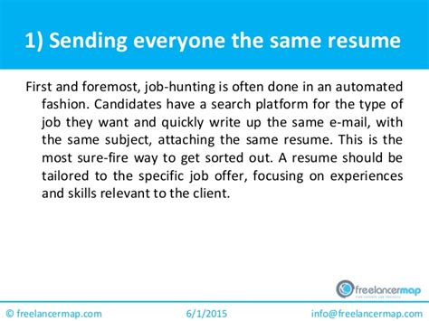 7 Resume Mistakes by Freelancers Out For These 7 Common Resume Mistakes